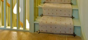 how to fit stair rods