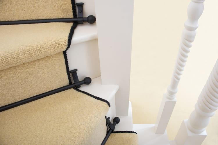 Blacksmith stair rods available from online retailer Carpetrunners