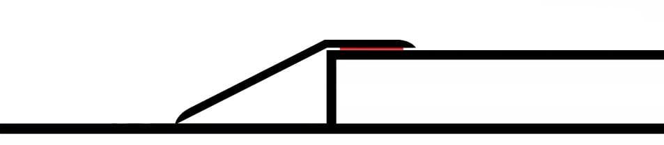 Premier Door Ramp for hardwood floor to tile transition