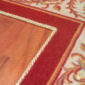 Easybind finishes edges of rugs & runners securely