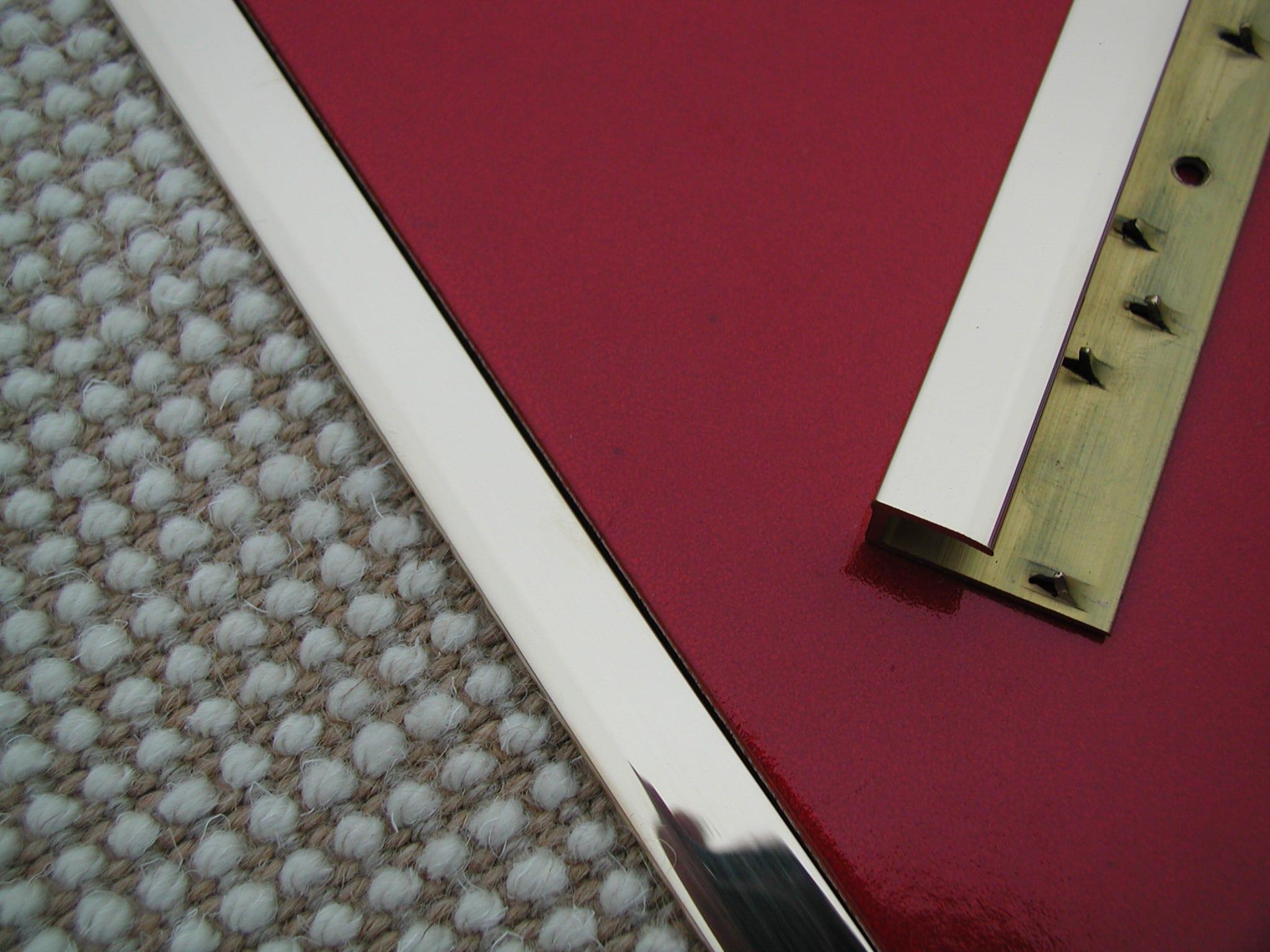 Feline1 Brass Door Threshold for laminate flooring
