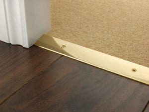 Laminate floor trim Premier Trim Cover Plate polished brass