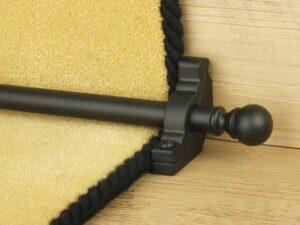 Balladeer ball end stair rod, black