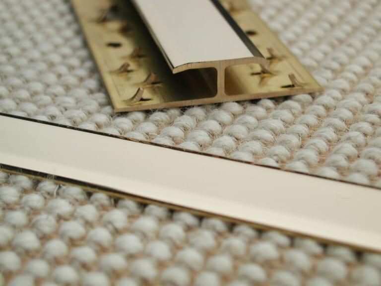Feline 2 door thresholds, polishde brass, joins carpet to carpet