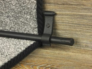 Blacksmith Flat stair rod for runner carpets, black