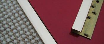 Feline 1 door thresholds, chrome, joins carpet to hard floor