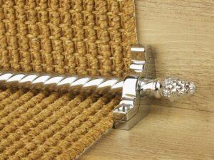 Sherwood carpet rod with fir cone finial, bracket in chrome