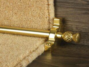 Arran stair rod in polished brass