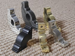 Stair rod brackets in various sizes and finishes