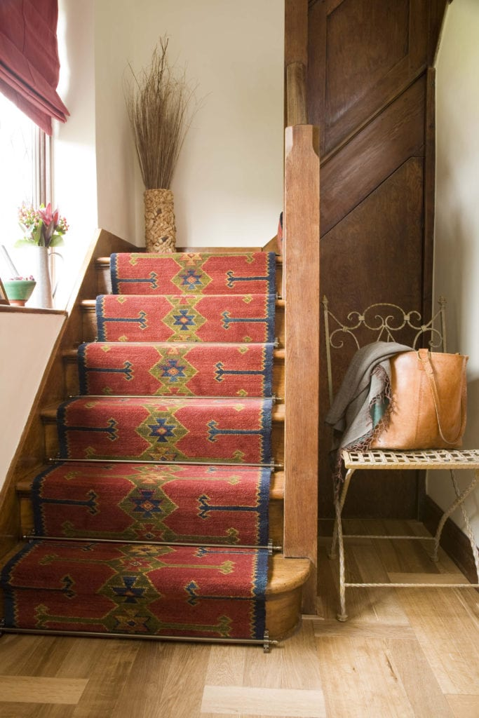 Homepride stair runner rods fitted on staircase