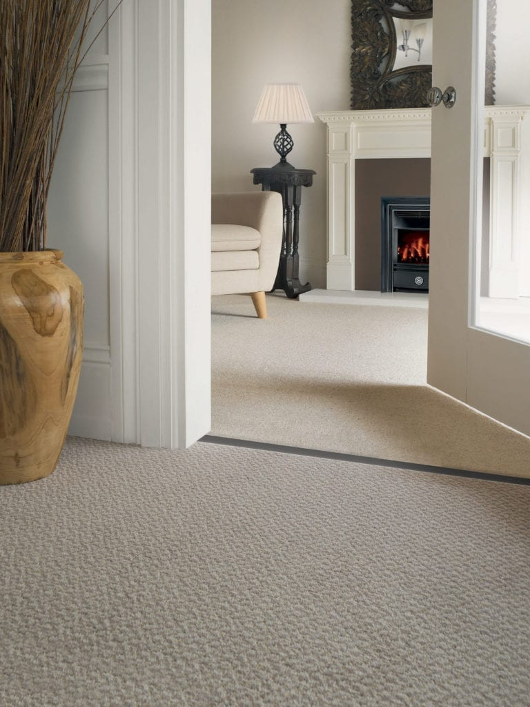 carpet to carpet thresholds Double Z9 in satin nickel, fitted