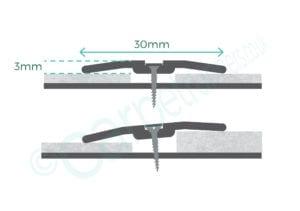 Premier Posh Cover plate 30mm diagram