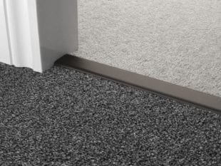 Double Z door bars carpet to carpet in black