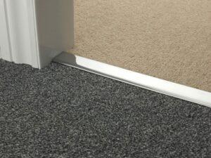 Carpet bars brushed chrome Double Z carpet to carpet
