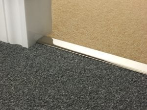 carpet bars Double Z carpet to carpet polished nickel