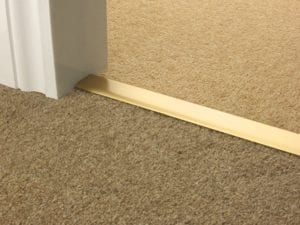 Double Z door thresholds satin brass carpet to carpet