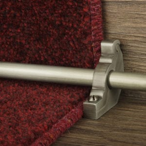 Carpet rod brackets for cylindrical rods in Pewter