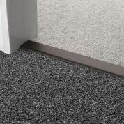 Premier Double Z9 door threshold joins two grey carpets in a doorway, black