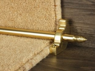 Chatsworth solid brass stair rod in polished brass