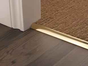 Premier Single door thresholds, curved edge for joining carpets to vinyl