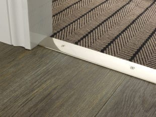 carpet door plate in satin nickel