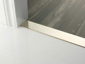 Premier Euro Floating door thresholds, for floating floors, 50mm wide, polished nickel