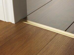 Premier Euro Floating door thresholds, for floating floors, 20mm wide, satin brass