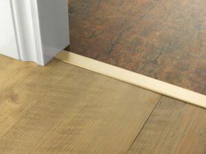 Premier Euro Floating door thresholds, for floating floors, 30mm wide, satin brass