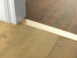 Premier Euro Floating door thresholds, for floating floors, 40mm wide, satin brass