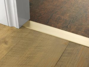 Premier Euro Floating door thresholds, for floating floors, 50mm wide, satin brass