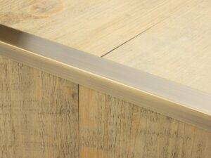 Premier Big Lips flooring trim, step edging, Antique Brass