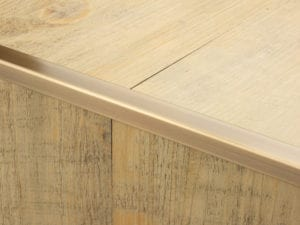 Premier Lips flooring trim, step edging, Antique Brass