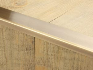 Premier Wide Lips flooring trim, step edging, Antique Brass
