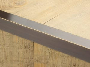 Premier Square Lips flooring trim, step edging, Bronze