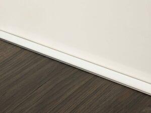 Premier Little Lips flooring trim, step edging, Brushed Chrome