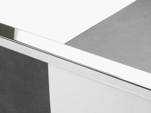 Premier Large Lips flooring trim, step edging, Chrome