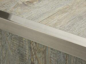 Premier Square Lips flooring trim, step edging, Pewter