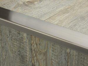 Premier Wide Lips flooring trim, step edging,Pewter