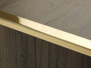 Premier Big Lips flooring trim, step edging,Polished Brass