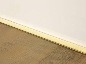 Premier Little Lips flooring trim, step edging, Polished Brass