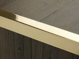 Premier SquareLips flooring trim, step edging,Polished Brass