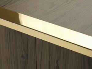 Premier Wide Lips flooring trim, step edging, Polished Brass