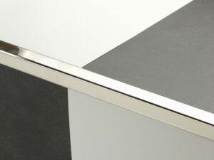 Premier Lips flooring trim, step edging, Polished Nickel
