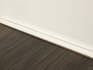 Premier Little Lips flooring trim, step edging, Polished Nickel