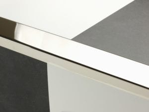 Premier Wide Lips flooring trim, step edging, Polished Nickel