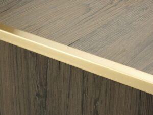 Premier Lips flooring trim, step edging, Satin Brass