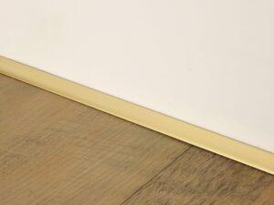 Premier Little Lips flooring trim, step edging, Satin Brass