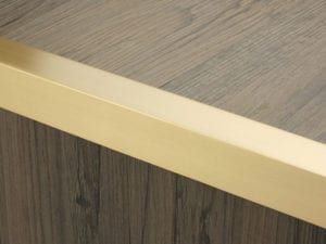 Premier Square Lips flooring trim, step edging,Satin Brass