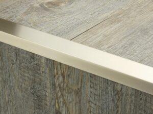 Premier Big Lips flooring trim, step edging, Satin Nickel