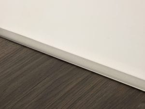 Premier Little Lips flooring trim, step edging,Satin Nickel